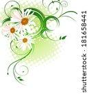 floral design   vector  | Shutterstock .eps vector #181658441