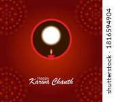 happy karwa chauth with moon...   Shutterstock .eps vector #1816594904