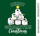 merry quarantine christmas 2020 ... | Shutterstock .eps vector #1816612517