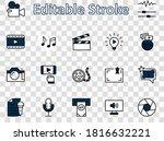 international film day set line ... | Shutterstock .eps vector #1816632221
