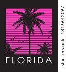 paradise palms hawaii... | Shutterstock .eps vector #1816642097