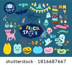 set of halloween illustrations... | Shutterstock .eps vector #1816687667