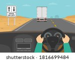hands driving a car on the... | Shutterstock .eps vector #1816699484