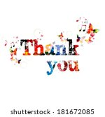 "colorful vector ""thank you""... 