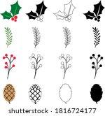 winter foliage vector... | Shutterstock .eps vector #1816724177