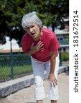 angina pectoris  elderly person | Shutterstock . vector #181672514