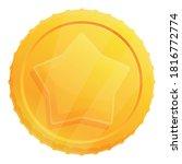 star gold token icon. cartoon...