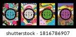 hippie art style poster  cover...   Shutterstock .eps vector #1816786907