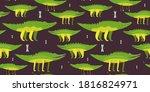 illustration of a seamless...   Shutterstock .eps vector #1816824971