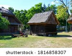 View Of Two Farmhouses Or Barn...