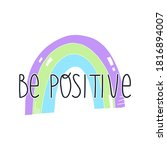 cute hand drawn rainbow and be...   Shutterstock .eps vector #1816894007