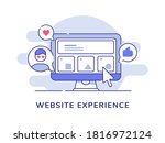 website experience concept user ...