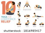 infographic 9 yoga poses for... | Shutterstock .eps vector #1816985417