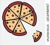 fast food in meat restaurants | Shutterstock .eps vector #1816988987