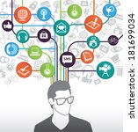 social media icons with people | Shutterstock .eps vector #181699034