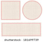 backgrounds,beige,brown,card,circle,cloth,colors,dashed,design,element,fabric,hessian,illustration,light,line