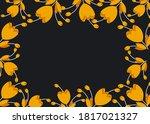 yellow flowers dark background...   Shutterstock . vector #1817021327