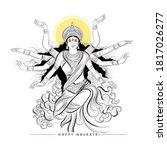 illustration of goddess durga...   Shutterstock .eps vector #1817026277