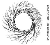 illustration of wreath of twigs ... | Shutterstock .eps vector #181703405