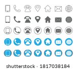 5 style contact information...   Shutterstock .eps vector #1817038184
