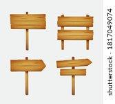 wooden sign. plank wood. wood... | Shutterstock .eps vector #1817049074