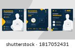 set of social media post... | Shutterstock .eps vector #1817052431