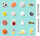 sports stickers set of football ... | Shutterstock .eps vector #181707065