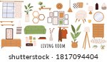 trendy scandinavian hygge...   Shutterstock .eps vector #1817094404