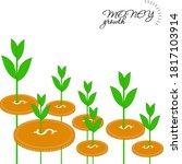 money growth on white background | Shutterstock .eps vector #1817103914