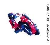 motorbike racing  low polygonal ...   Shutterstock .eps vector #1817120861
