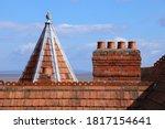 Old Brick Chimney Pots On A...