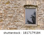 Wooden Window In An Old Stone...