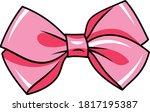 bow vector illustration pink... | Shutterstock .eps vector #1817195387