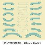 set of blue vintage ribbon ....   Shutterstock .eps vector #1817216297