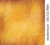 orange empty crumpled paper... | Shutterstock .eps vector #1817217884