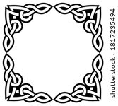 irish celtic vector square... | Shutterstock .eps vector #1817235494