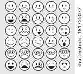 vector illustration of smiley... | Shutterstock .eps vector #181725077