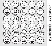 vector illustration of smiley... | Shutterstock .eps vector #181725077