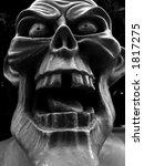 Ghoulish Statue Gargoyle Face.