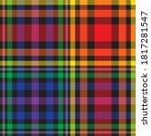 rainbow glen plaid seamless... | Shutterstock .eps vector #1817281547