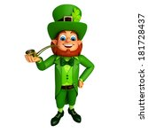 leprechaun stands with... | Shutterstock . vector #181728437