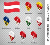 nine flags the provinces of... | Shutterstock .eps vector #1817371004