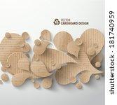vector cardboard graphics | Shutterstock .eps vector #181740959