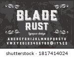 alphabet design  typeface... | Shutterstock .eps vector #1817414024