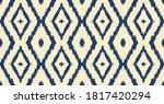 ikat geometric folklore... | Shutterstock .eps vector #1817420294