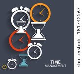 modern flat time management... | Shutterstock .eps vector #181742567