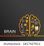 brainstorming concept with... | Shutterstock .eps vector #1817427011