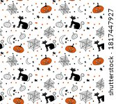 Halloween Pattern With Cat...