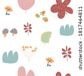 seamless floral pattern  cute... | Shutterstock .eps vector #1817464811