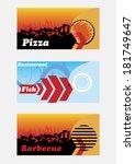 restaurant banners | Shutterstock .eps vector #181749647